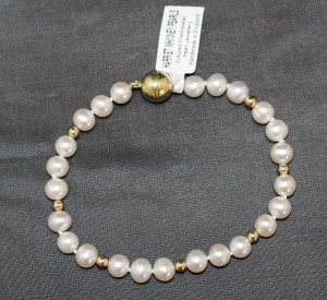 pearl and silver Hannah bracelet
