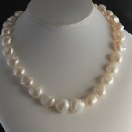 large irreg pearl necklace