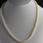 tiny 4mm pearl necklace