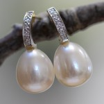 teardrop pearl and diamond