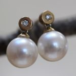 pearl diamond top earring