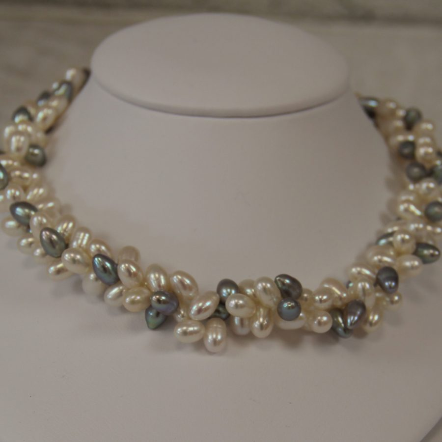 Camilla Necklace With Freshwater Pearls In Beautiful Twist Style