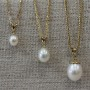 pearl gold pendants