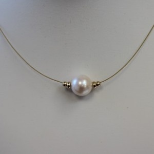large pearl illusion necklace
