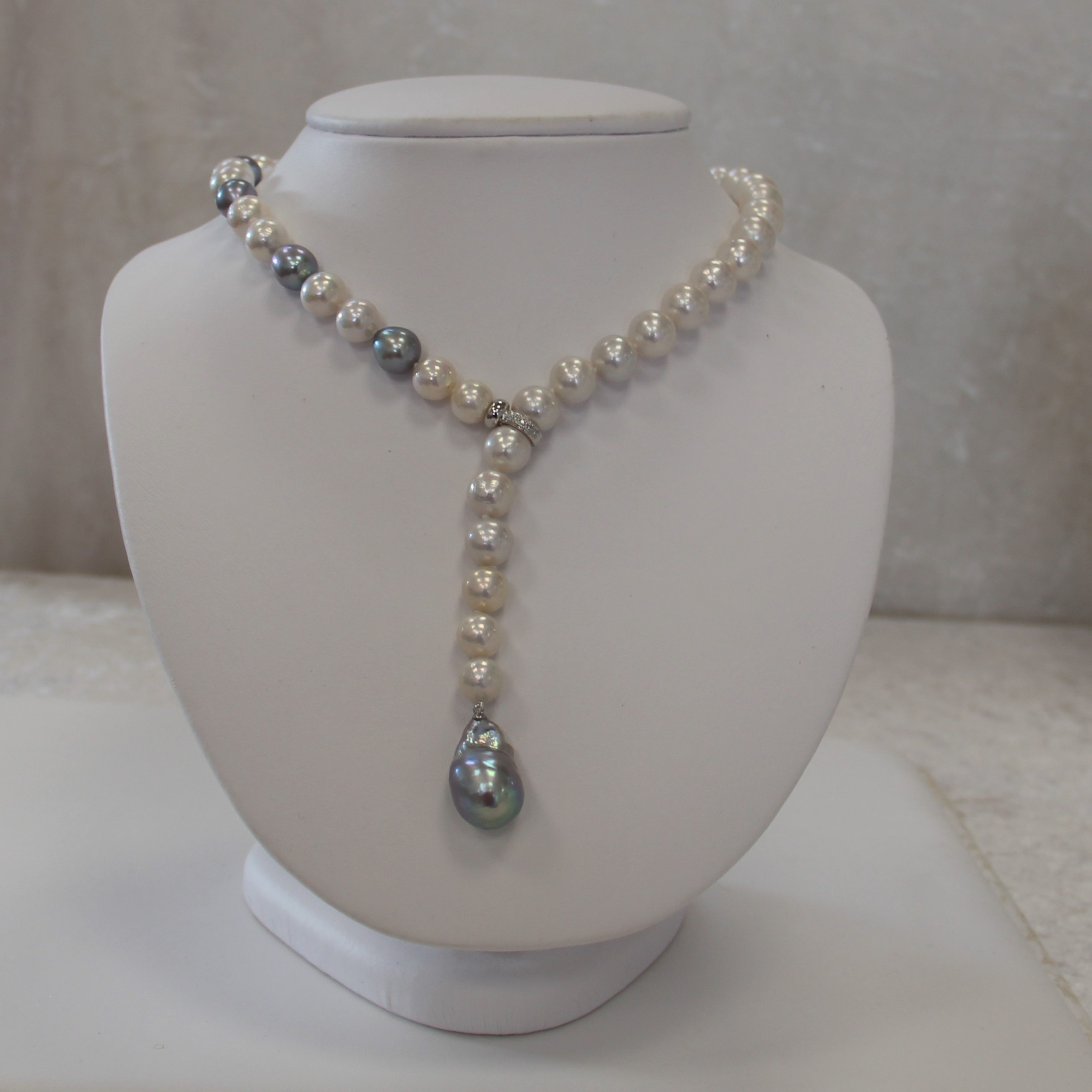 Y pearl necklace